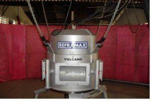 Robot para projeção de massa refratária - Alto Forno (1)