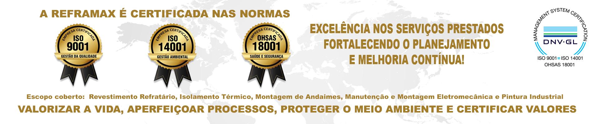 Normas ISO da Reframax Engenharia